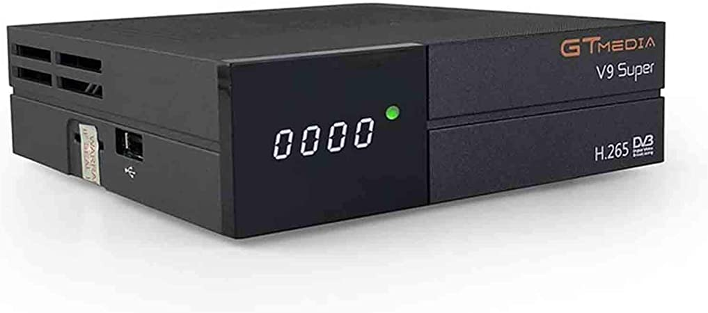 GT Media V9 Super DVB S2 Satélite Receptor de TV Digital Decodificador con Wi-Fi Incorporado Soporte H.265 1080P Full HD Compartir red ...