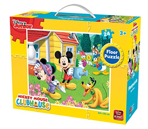 KING 5275 Mickey Mouse Clubhouse Big Floor Puzzle 24-Piece, 60 x 50 ()