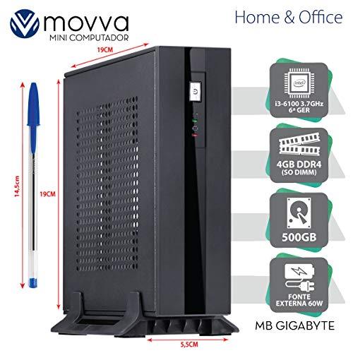 MINI COMPUTADOR HYDRO INTEL I3-6100 3.7GHZ 6ª GER. MEM. 4GB HD 500GB HDMI/DISPLAYPORT FONTE 60W LINUX - MVHYMI3H1105004 - MOVVA