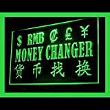 Money Exchange Instant Currency Private Currency Simple LED Light Sign 190110 Color Green