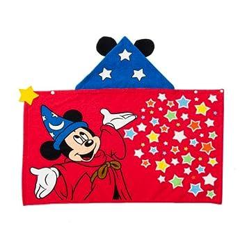 ミッキーマウス フード付きタオル キッズサイズ ファンタジア バスタオル プール 子供用 【ディズニーリゾート