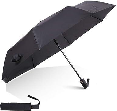 VIUOCER Windproof Auto Travel Umbrella Black 8 /& 10 Strong Rib Durable Compact Portable Lightweight Folding Best Mini Rain Umbrellas for Men Women