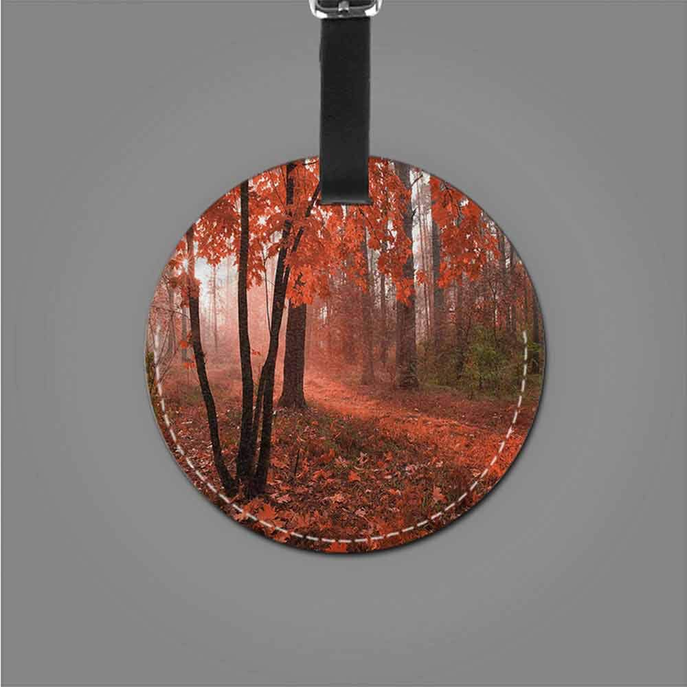 New Creative Luggage Tags Fall,Mother Earth Theme Trees Cute Novelty
