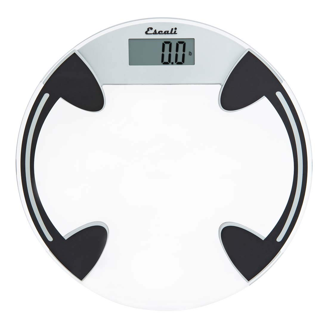 Amazon com escali b180rc classic glass bathroom body scale lcd digital display 400lb capacity clear health personal care