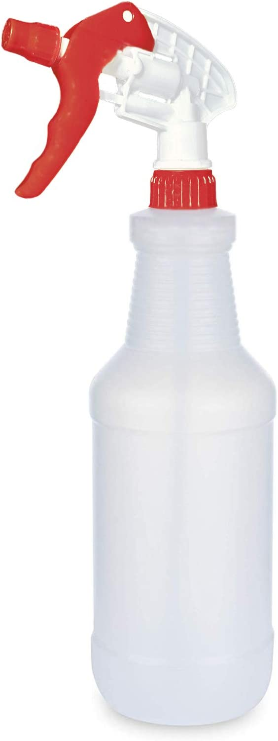 BRIGHTFROM 32 OZ Empty Plastic Spray Bottle, Heavy Duty with Adjustable Spray Nozzle, Chemical Resistant, All Purpose, Professional for Cleaning, Planting & Chemical Solutions
