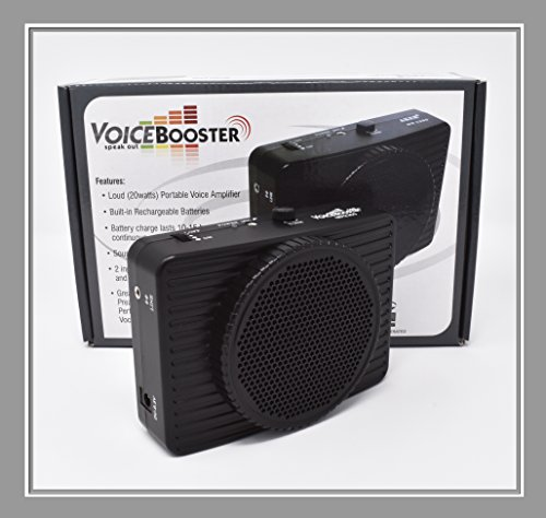 VoiceBooster Voice Amplifier 20watts Black MR2300 (Aker) by TK Products, Portable, for Teachers, Coaches, Tour Guides, Presentations, Costumes, Etc.