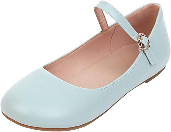 LUXMAX Womens Ankle Strap Ballet Flat
