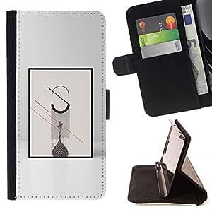 Momo Phone Case / Flip Funda de Cuero Case Cover - Cartel Significado Minimalista Gris - Motorola Moto E ( 1st Generation )
