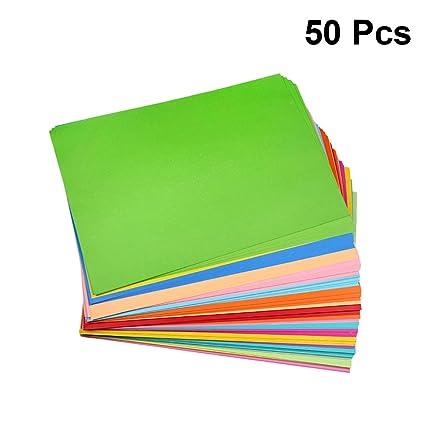 SUPVOX 50 piezas A4 Papel De Origami Papiroflexia Colorido ...