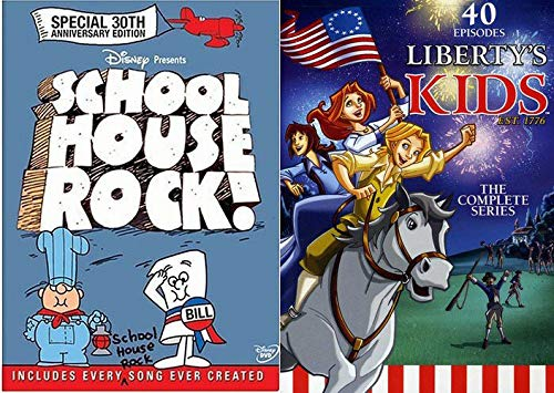 30 Collection Liberty - Original 6-DVD Complete Series American Animated Schoolhouse Rock (30th Anniversary Edition Includes Every Song Ever Created! & Liberty's Kids 40 Episode Bundle