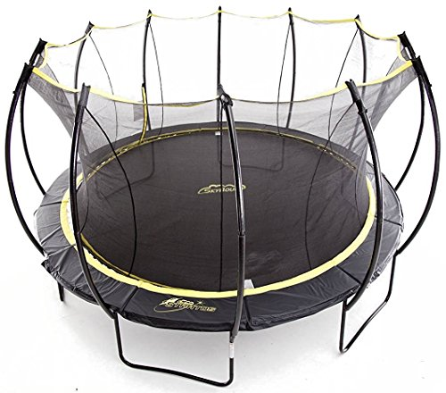 Environmental Enclosure - SkyBound Stratos Trampoline with Full Enclosure Net System, 15'