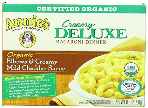 Deluxe Creamy (Annies Homegrown Deluxe Organic Creamy Macaroni and Cheese, 9.5 Ounce -- 12 per case. by Annie's Homegrown)