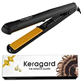 Cheap Keragard 1 Inch Classical Ceramic Professional Hair Flat Iron With Argan Oil Infused Plates Hair Iron Tourmaline Curling Iron Straightener temperature adjustable Ionic Hair Flat Iron Straightens