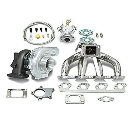 High Performance Upgrade T04E T3 5pc Turbo Kit - Compatible with Ford  2 3L/2 5L I4 DOHC Engine