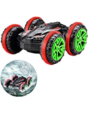 Pussan Amphibious Remote Control Car for Kids and Adults 2.4 GHz RC Stunt Car