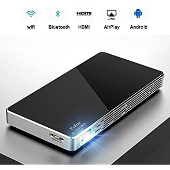 Mini Portable Projector For iPhone, Mobile Projector for Outdoor,Pico HD Video Projector Support Bluetooth 1080P HDMI USB Wifi By PoFun