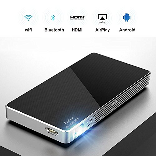 Mini Portable Projector For iPhone, Mobile Projector for Outdoor,Pico HD Video Projector Support Bluetooth 1080P HDMI USB Wifi By PoFun by PoFun