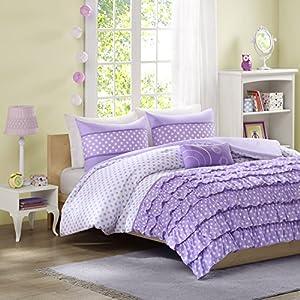 Mizone Morgan 3 Piece Comforter Set, Twin/Twin X-Large, Purple