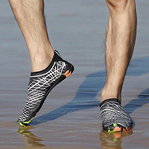 LuckyGirls Chanclas de Hombre Mujer EstampadoModa Personalidad Casual Ligero Secado Rápido Calcetines de Snorkel Playa Buceo Zapatos de Nadando y ...
