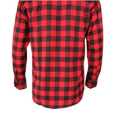 pqdaysun Mens Long Sleeve Flannel Plaid Dress Shirts Checked Button Down Shirt