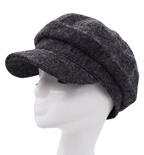 Meifan Fashions Hats,Woman Winter Beret Duckbill Newsboy Hat (Dark Gray) by Meifan