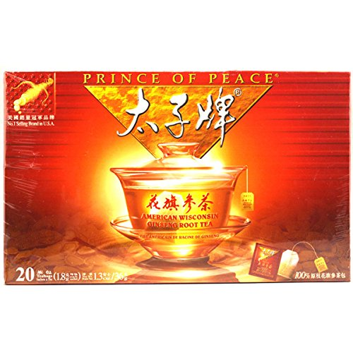 Prince Of Peace American Wisconsin Ginseng Root Tea, 20 Count
