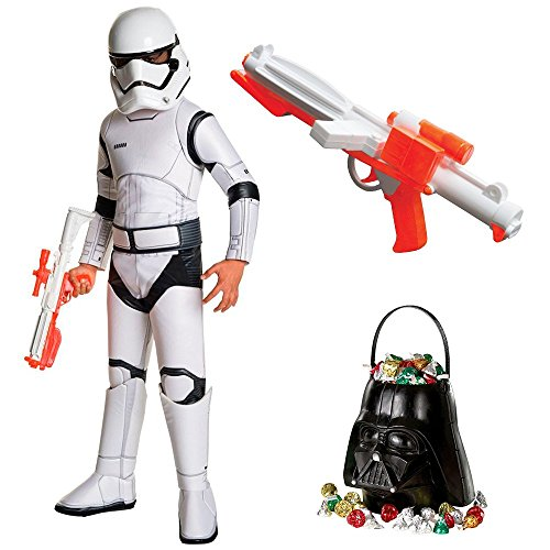 Dlx Childrens Costumes (Star Wars Ep VII: The Last Jedi - Storm Trooper SPR DLX Child Costume with Blaster and Candy Pail S)