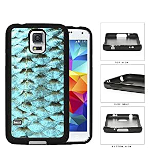 Blue Fish Scales Silicone Cell Phone Case Samsung Galaxy S5 SM-G900