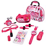 ADESHOP Early Education Baby Toys, Makeup Tool Kit Sets Hair Dryer Cosmetics Toys for Girls Kids Children Furniture(A1, M)
