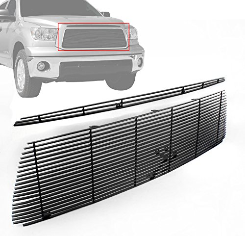 ZMAUTOPARTS Toyota Tundra Pickup Front Hood Scoop+Upper Billet Grille Grill Black 2Pcs
