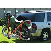 """400 Lb. Aluminum Hitch Receiver-mount Motorcycle Carrier Fits Any 2"""" Receiver; Platform Adjusts to Any Size Bike"""