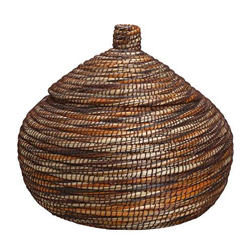 Colorful Large Woven Kaisa Grass Basket With Lid 'Lidded Kaisa Basket'