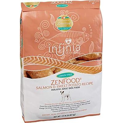 Infinia ZenFood | Salmon and Sweet Potato Grain-Free Adult Dog Food | Nutritionally Complete - 15 Pound (15 lb) Bag