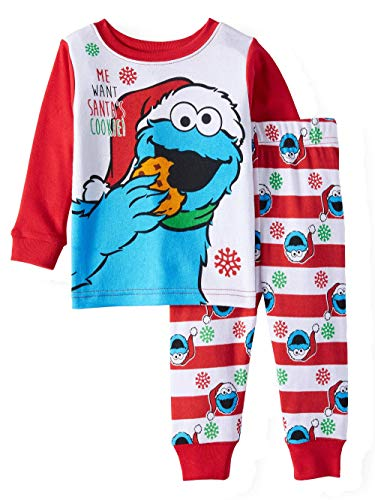 AME Cookie Monster Christmas Baby 2 Piece Pajama Set Long Sleeve Top & Pants (18M)