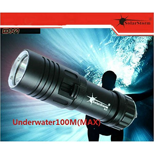 - Solarstorm DX1 CREE XM-L2 U2 1200LM Diving LED Flashlight 100M
