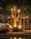 Desert Steel Saguaro Cactus - Tiki Torch Steel Art – Stands 5 Ft. Tall