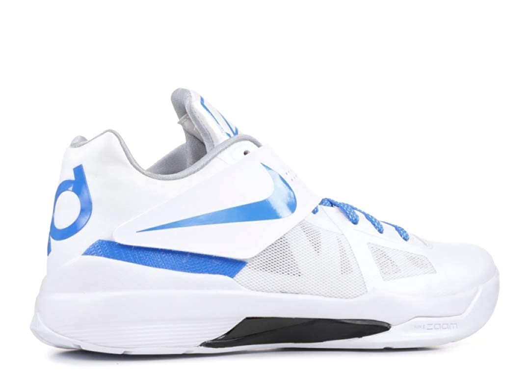 new product 9116b 98368 Amazon.com   Nike Men s KD 4 QS Thunderstruck, White Photo Blue-Wolf  Grey-Black   Fashion Sneakers