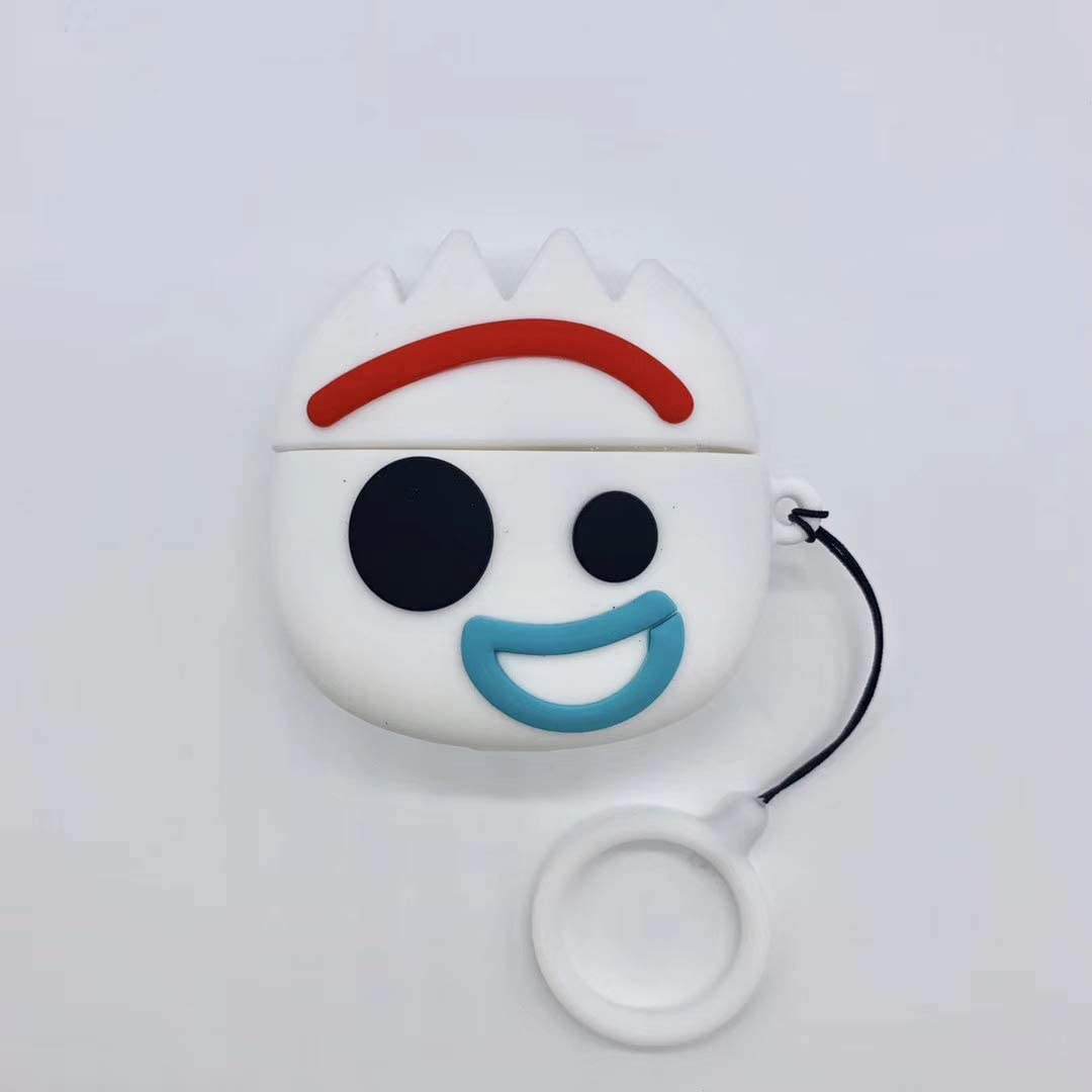 Toy Story 4 Protective Silicone Case Funny Cover Compatible with AirPods Pro Wireless Charging Case, 3D Cute Cartoon Designer Skin for Apple AirPods Pro [2019 Release] (Forky)