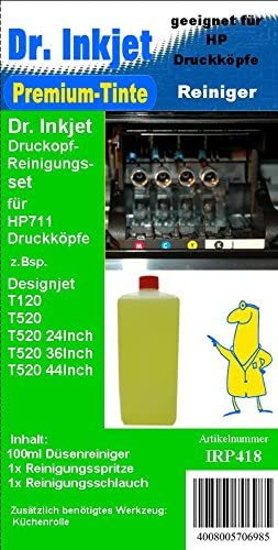irp418 – Dr. Inkjet cabezal de impresión Juego de limpieza para el HP Diseño Jets T120 + T520 Serien – hp711 – cz129 a, CZ130 A, CZ131 A, CZ132 A: Amazon.es: Oficina y papelería