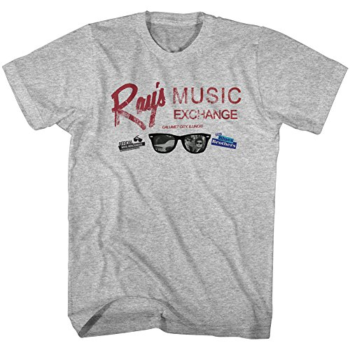 Blues Brothers Movie Rays Exchange Gray Adult Mens T-Shirt Tee