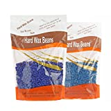 Bonjanvye Hard Wax Kit Hair Removal Wax Kit Hard Wax Beans Kit Prime 300g Chamomile and Lavender