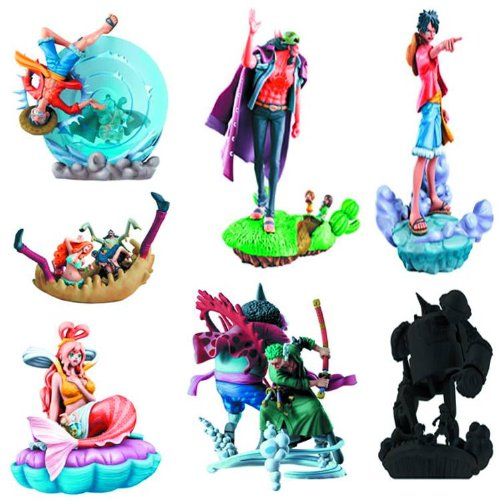 One Piece Episode of Fish-Man Island Logbox Trading Figures (1 Random Blind Box)