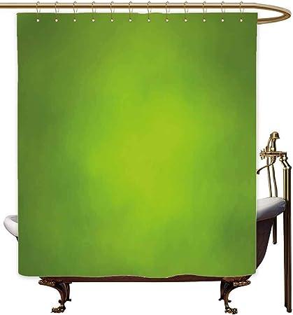 Cortinas de Ducha Azules para baño de Salvia, Fondo Verde Abstracto con Color borroso Ecology Growth