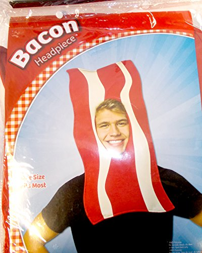 Rasta Imposta Red Cream Bacon Headpiece Costume -
