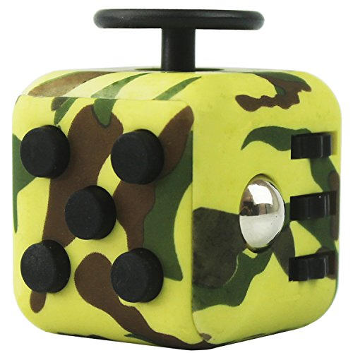 FIDGETERRELAX Stress Cube Relieves Anxiety and Depression for Adults and Children (Army Green)