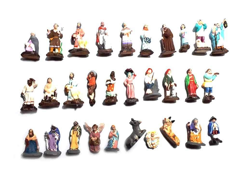 Generico ricevi 30 pastori in Terracotta Alti 3 cm nativita gesu re Magi per PRESEPE San Gregorio ARMENO Artigianali nonn