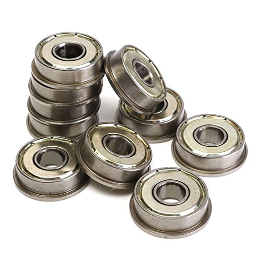 10pcs Motor Flange Bearing F608ZZ Metric Ball Bearings Part by BephaMart
