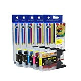 Cool Toner Compatible Ink Cartridge Replacement for Brother LC75 XL (2 Black, 1 Cyan, 1 Magenta, 1 Yellow, 5-Pack)