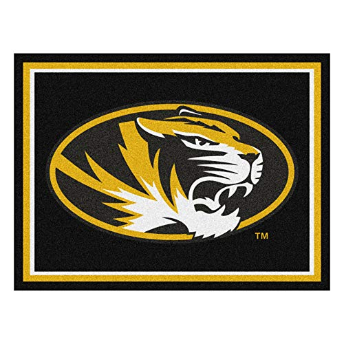 NCAA University of Missouri Tigers 8 x 10 Foot Plush Non-Skid Area Rug
