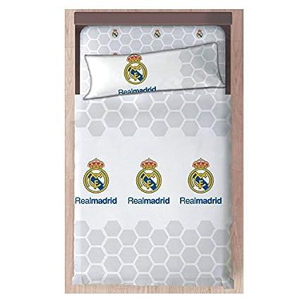 Carbotex Juego De Sabanas de 3 Piezas- Real Madrid- Medida Cama 90